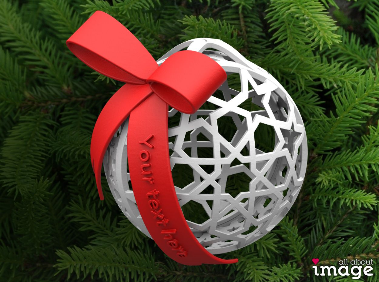 Customizable Christmas Ornament Geometric 1 By Allaboutimage On Shapeways Christmas Ornaments Small Gifts Ornaments