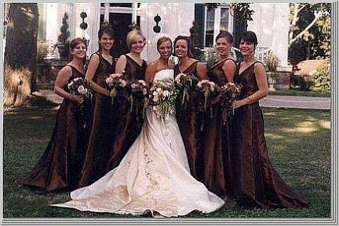 brown bridesmaid dresses | Wedding Burlington | Pinterest ...