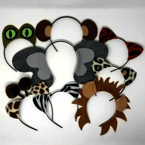 animals theme ears headband birthday party favor costume lion elephant monk Jungle safari zoo animals theme ears headband birthday party favor costume lion elephant monke...