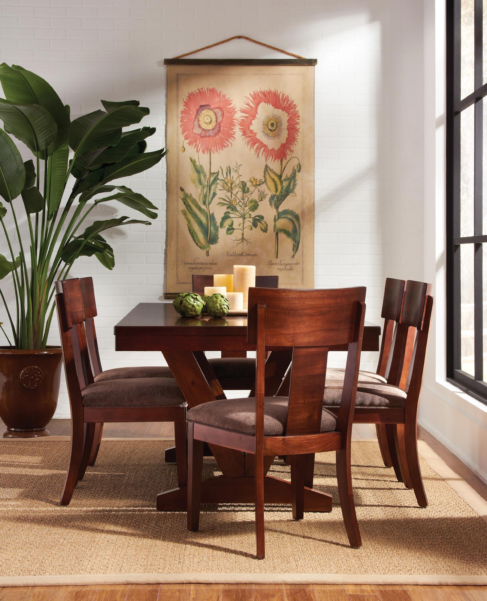 Room Studio Trestle Table Dining Set