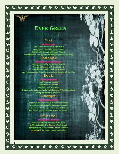 Green and Gray Restaurant Menu Template – Microsoft Office Menu Template