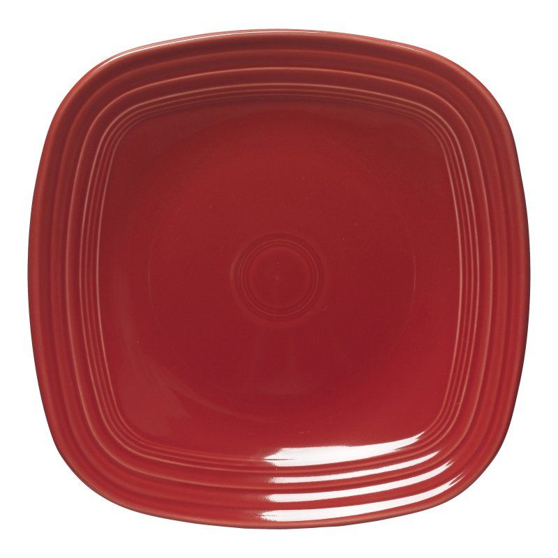 Fiesta Scarlet Square Dinner Plate - Set of 4 - HPJC862-1