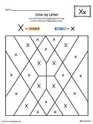 uppercase letter x color by letter worksheet alphabet worksheets letter worksheets. Black Bedroom Furniture Sets. Home Design Ideas