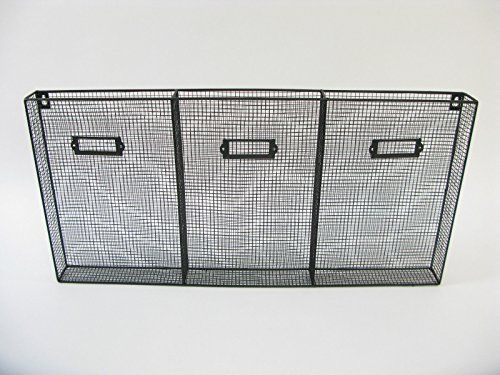 Large Wire Magazine Post Letter Rack Newspaper Basket Wall