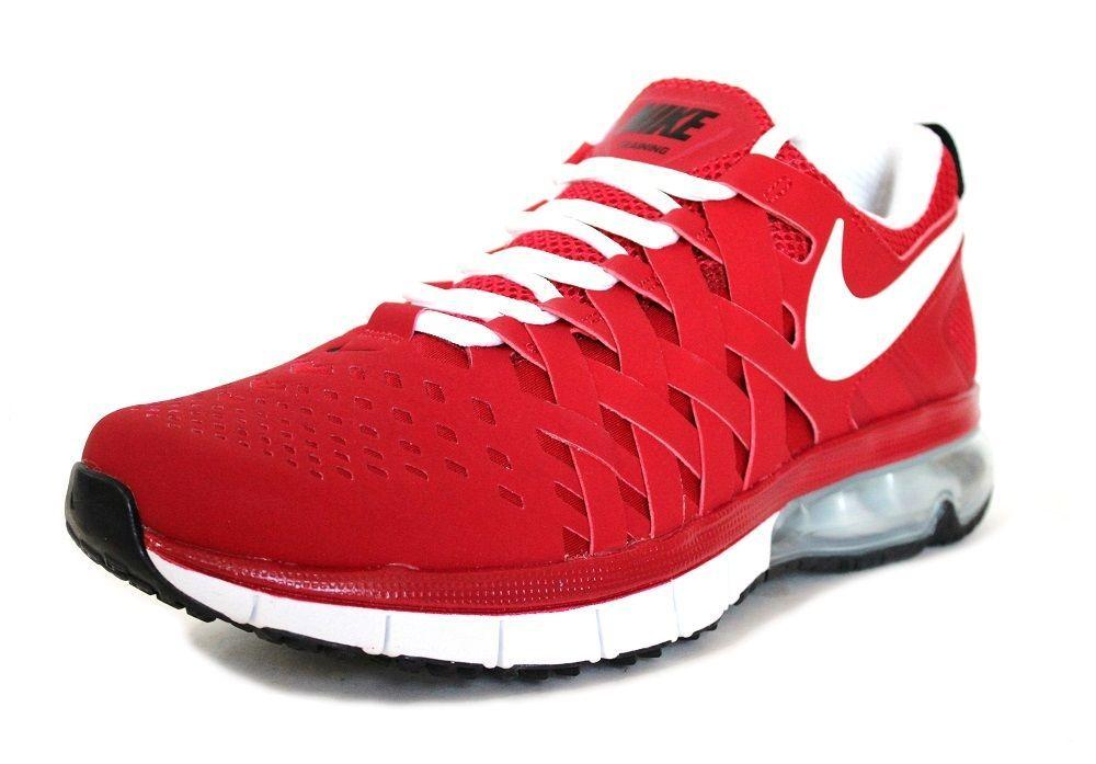 f587b3353182 Nike Men s Fingertrap Air Max NRG Training Shoes 644672 610 Red White Size  10  Nike  RunningCrossTrainingSneakers
