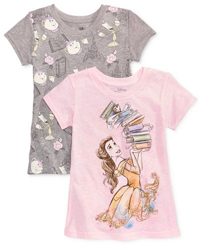 810a0af7a Disney's® Beauty and the Beast 2-Pk. T-Shirts, Toddler & Little Girls  (2T-6X)