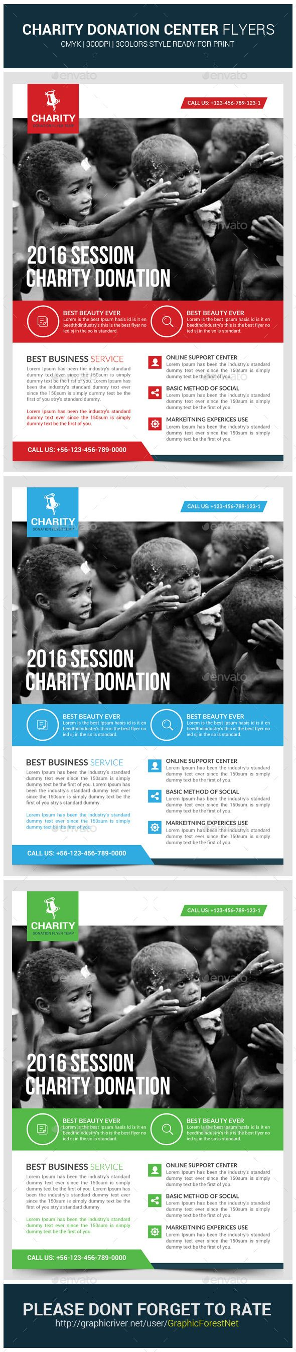 charity donation flyer template graphicriver donations