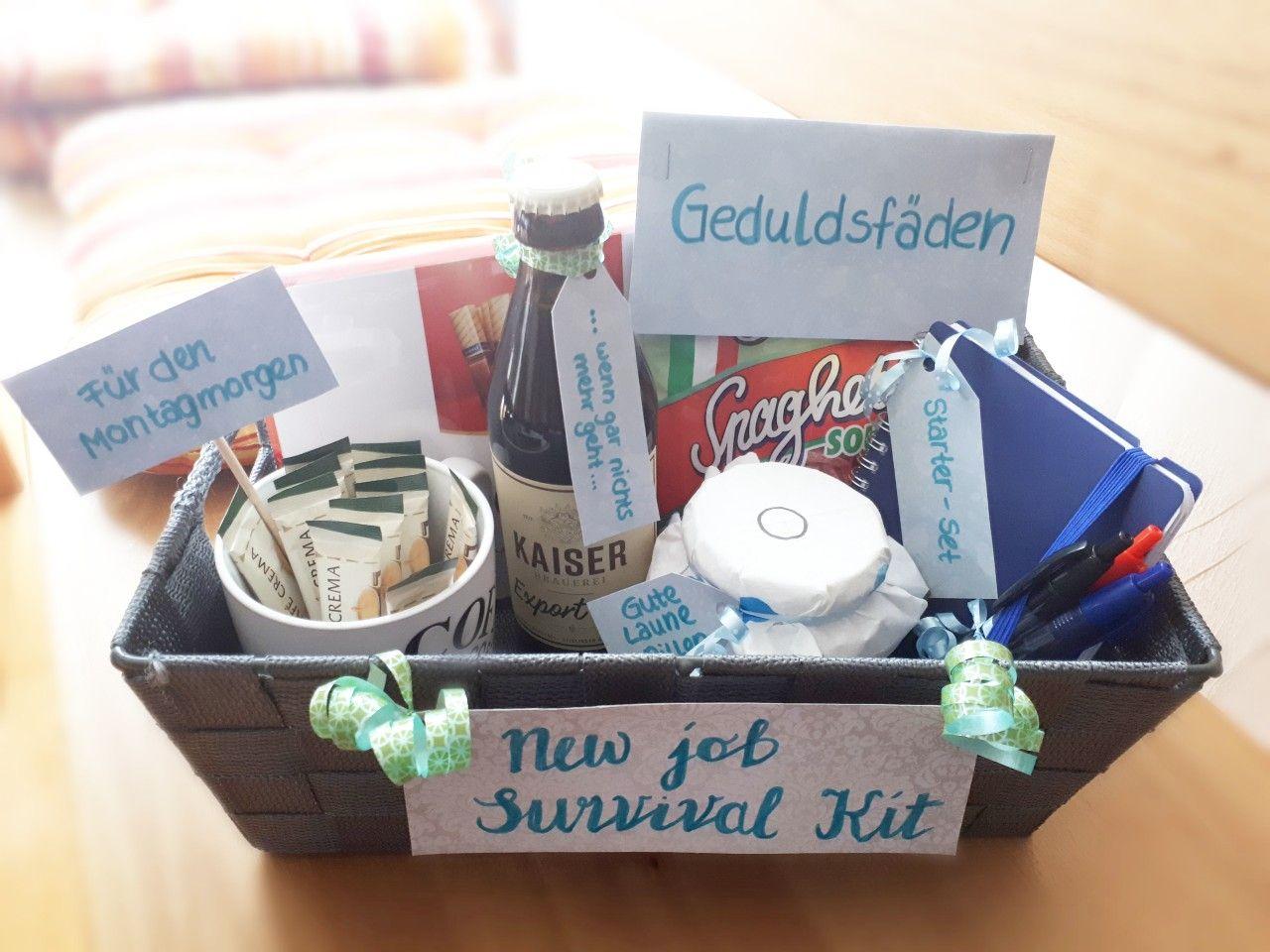 New Job Survival Kit | Geschenke zum abschied, Geschenke