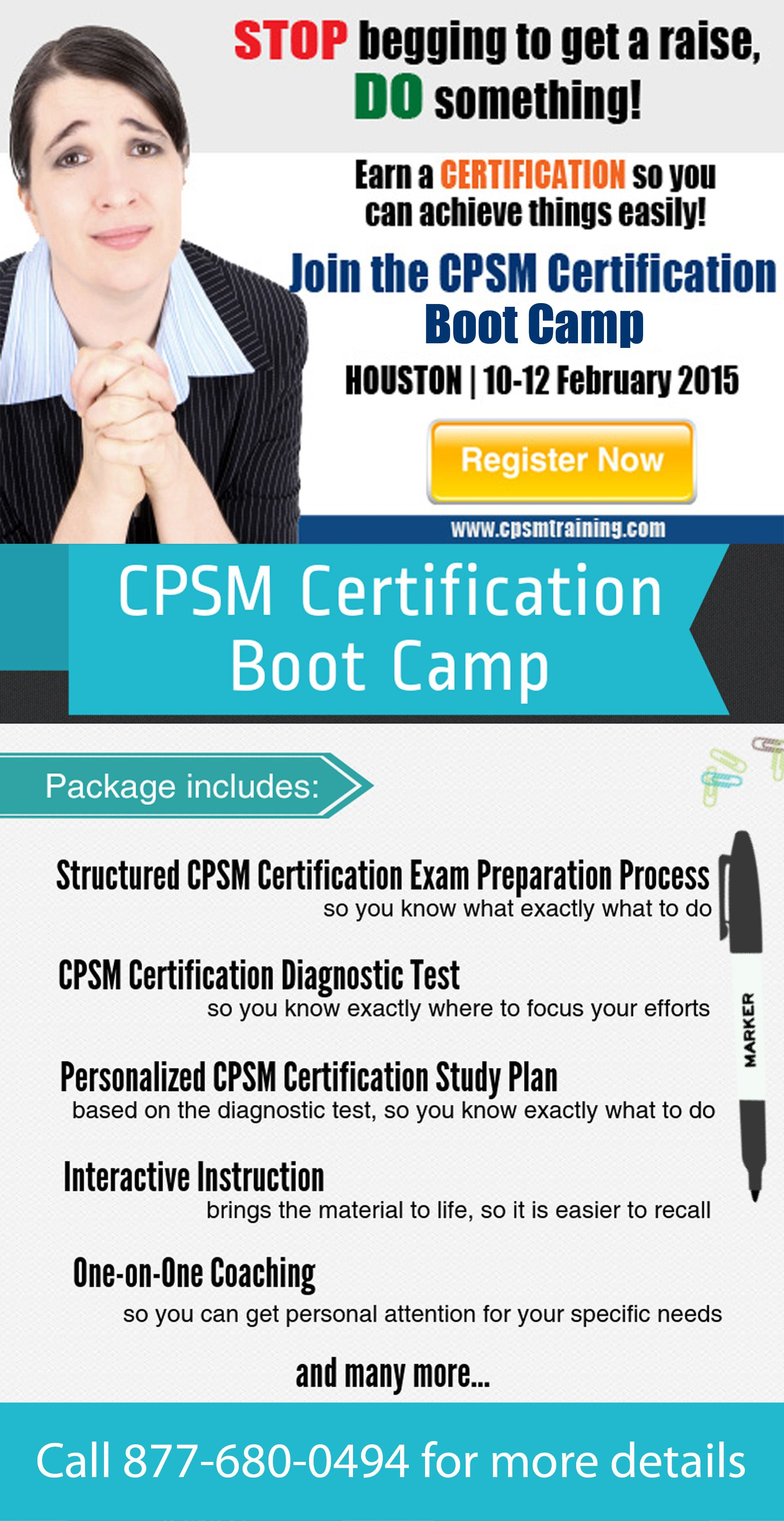 Catch The Cpsm Certification Training In Houston Texas This