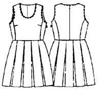 Платья со складками сшить