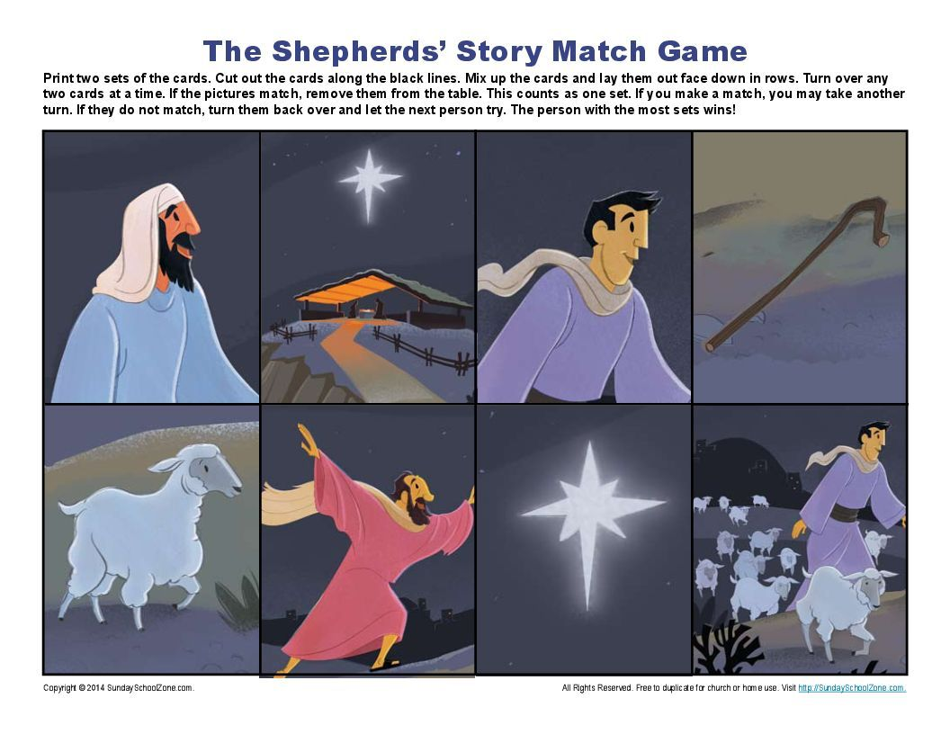 The Shepherds Christmas Adventure Match Game