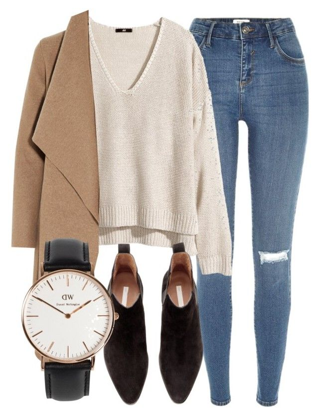 Untitled #4885 by laurenmboot on Polyvore featuring polyvore, fashion, style, H&M, Harris Wharf London, River Island and Daniel Wellington