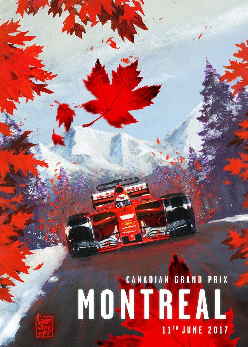 Scuderia Ferrari Cover Art For Canadian Grand Prix 2017