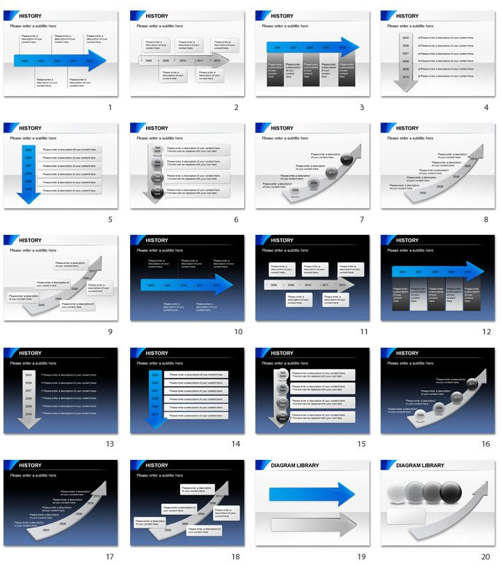 Powerpoint Templates History  Powerpoint Diagrams  Charts