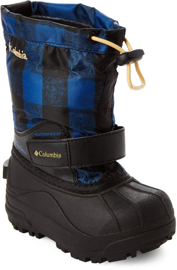 77d1a85af78b Columbia Toddler Boys) Royal   Golden Nugget Powderbug Forty Print Snow  Boots