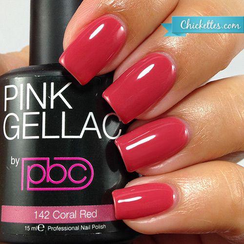 142 Pink Gellac Coral Red Gel Nail Polish Colors Gel Nail