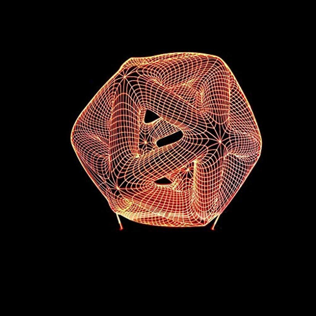 Hgkdft 3d Visuelle Illusion Lampe 7 Farben Die Dekoration Startseite Warmes Licht Kindergeburtstagsgesche Kindergeburtstagsgeschenke Nachttischlampe Dekoration