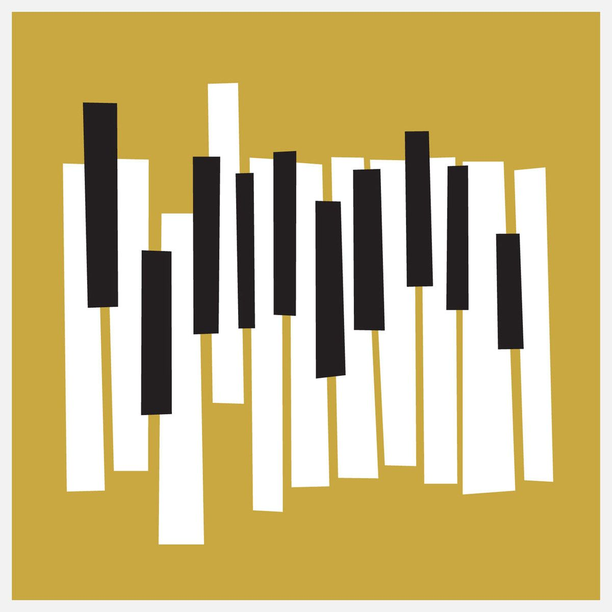 Mike\'s music room/office! Modern Piano Keys Yellow by A. Micah Smith ...