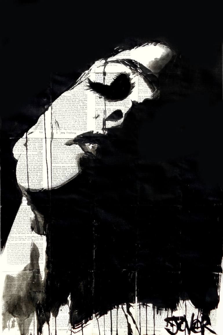"""Saatchi Art Artist Loui Jover; Drawing, """"dark half"""" - Featured on Everything You Need to Hang Artwork - http://canvas.saatchiart.com/decor/everything-you-need-to-hang-artwork"""