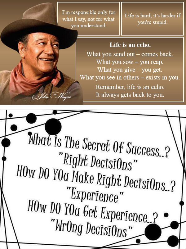 John Wayne Quotes My Husbands Favorite Movie Star Senior