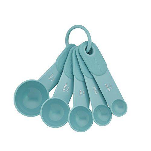 Kitchenaid Measuring Spoons Set Of 5 Aqua Sky