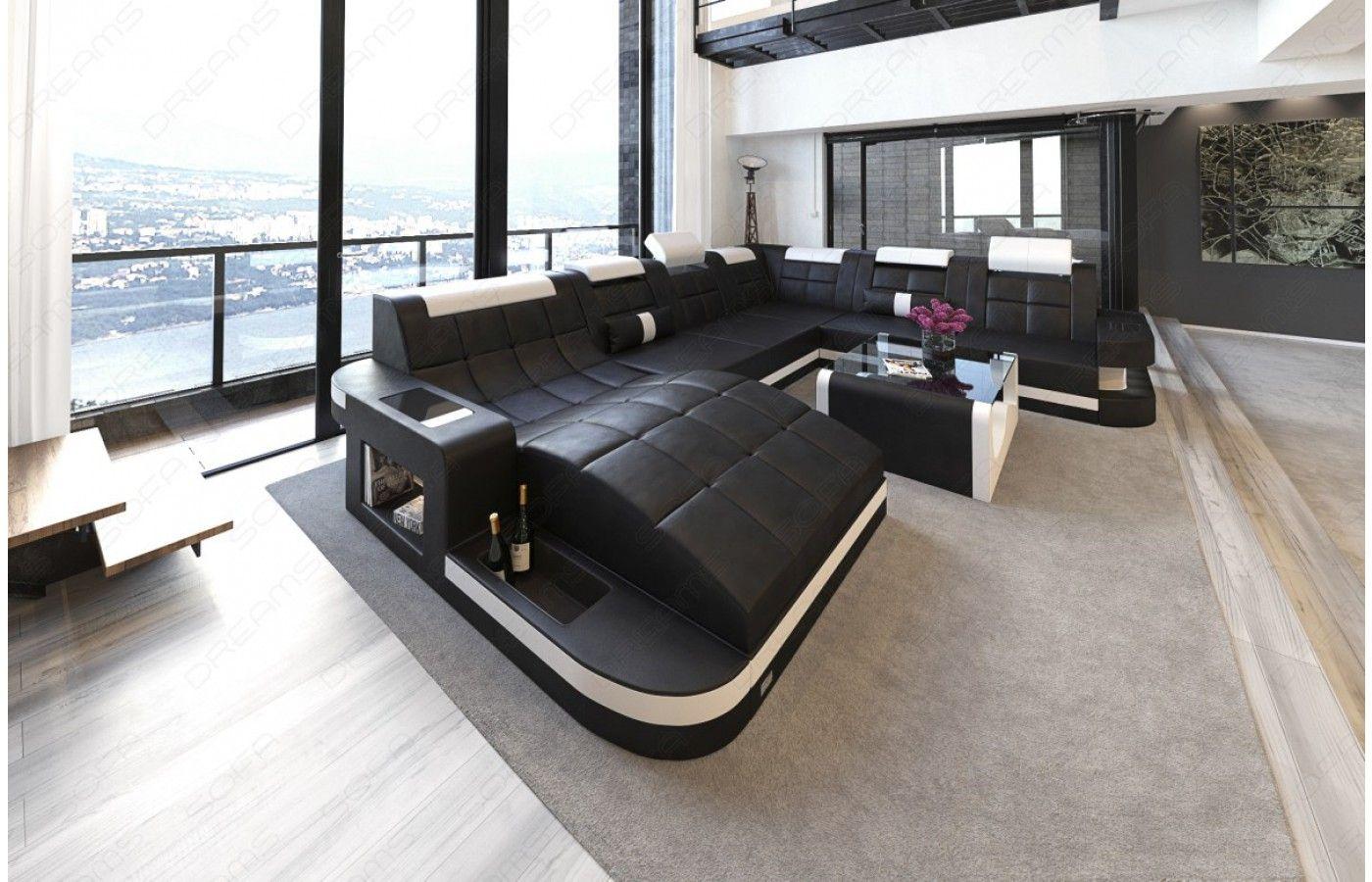 xxl wohnlandschaft wave leder in 2019 design wohnlandschaft wave xl mit led pinterest. Black Bedroom Furniture Sets. Home Design Ideas