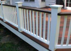 Deck Rails Solid White Vinyl Rails Ipe Rails Deck Colors Deck Railings Vinyl Railing