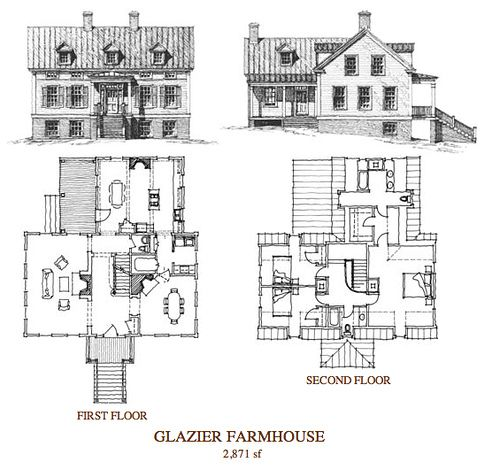 Russell Versaci Glazier Farmhouse House By Farmhousemodern Via Flickr Floor Plan Drawing House Plans Cottage House Plans