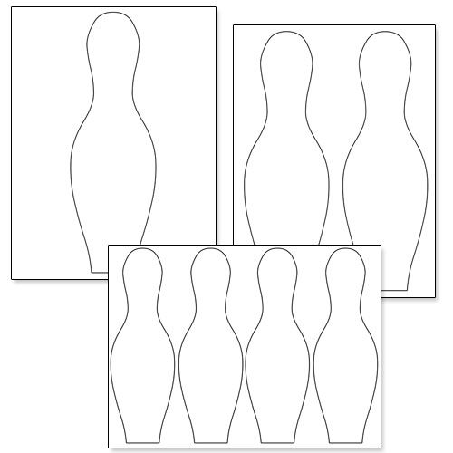 Printable Bowling Pin Template Printable Treats Bowling Pins