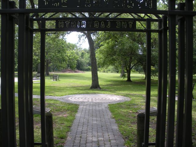 Labyrinth And Tree Of Life Area Of Audubon Park New Orleans