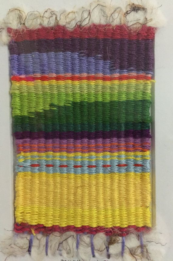 Original weaving, fiber art, woven art, colorful art, colorful ...