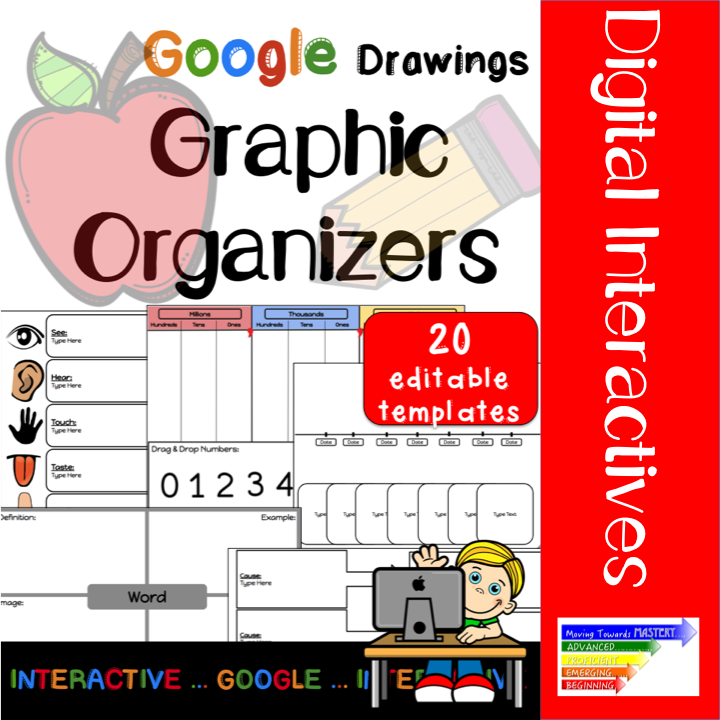 incorporate google drawing graphic organizers in your classroom 20 templates to make uniquely your own or use as is