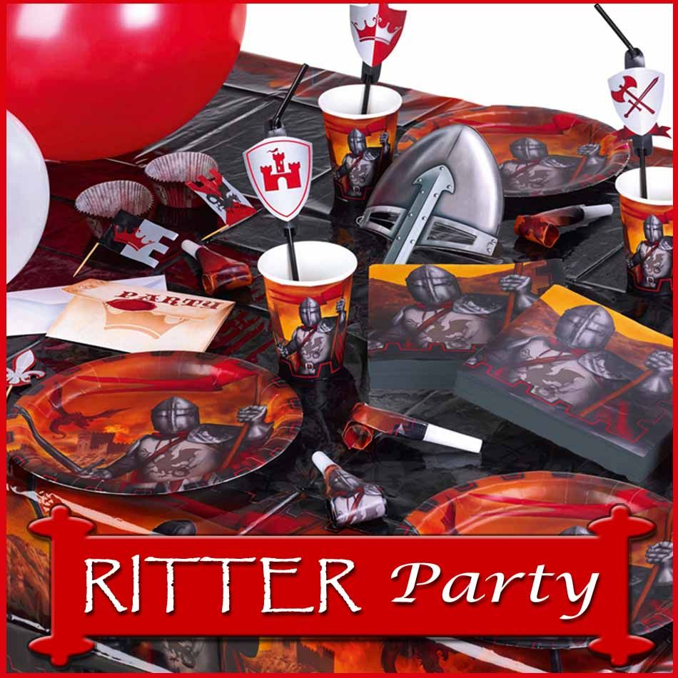 ritter party deko f r kindergeburtstag ritterfest. Black Bedroom Furniture Sets. Home Design Ideas