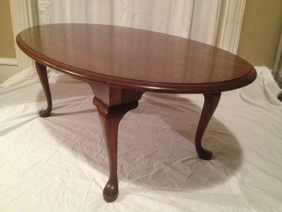 pennsylvania house oval cherry coffee table - queen anne style