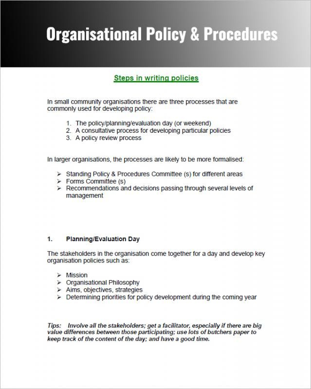 Company Policy Template Policy Template Writing A Throughout Policies And Proc Policy Template Standard Operating Procedure Template Writing A Business Plan