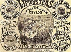 LIPTON/'S TEAS from Ceylon Victorian Advert 1897