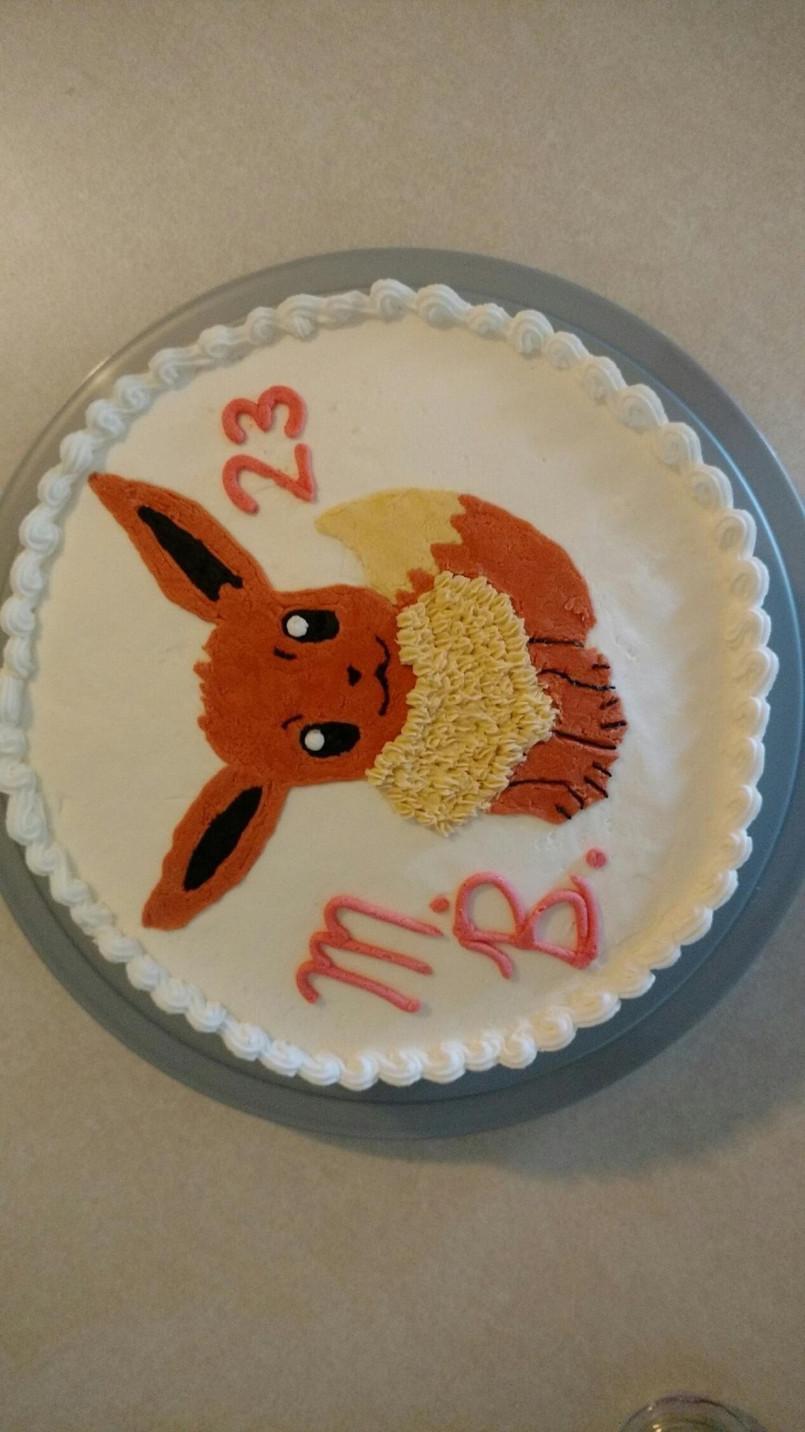 A Simple Eevee Cake Sara Bday Pinterest Cake