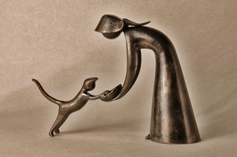 Metal sculpture by French artist Jean-Pierre Augier (b. 1950)