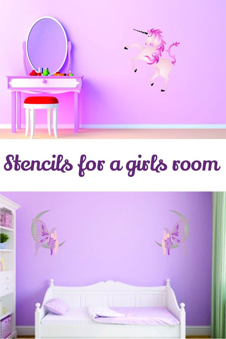 Easy Diy Stencil Project To Add A Little Magic To A Little Girls