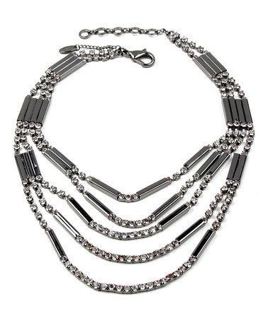 Gunmetal & Crystal Meredith Necklace by Amrita Singh: maybe a bit flashy for me, but sleeker than a lot of her statement necklaces. I could pull this off, though.