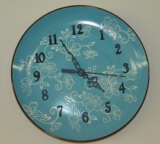 Temp-tations Clock Ceramic Stoneware Old World Floral Lace Upcycled Plate