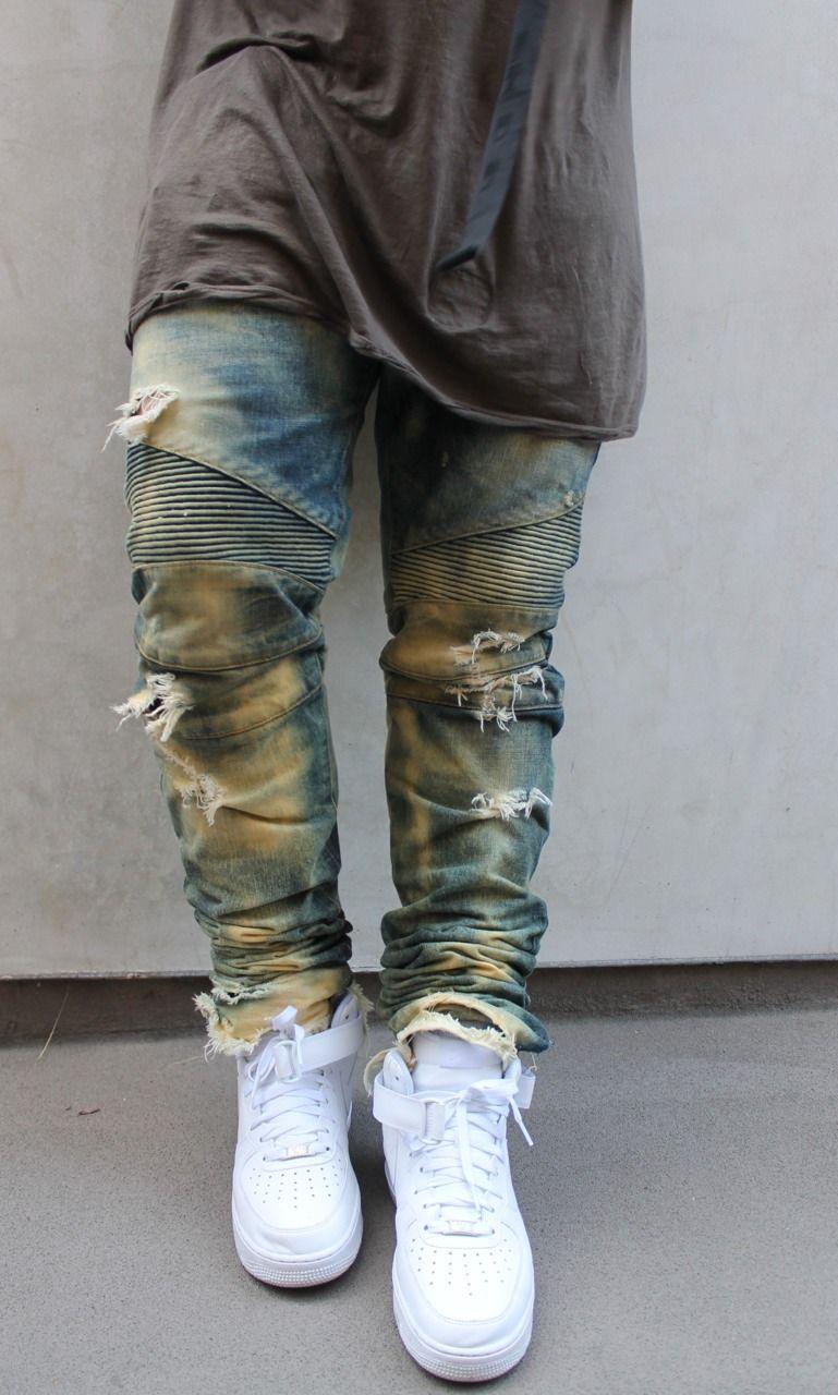 Nike Air Force 1 Haute Mens Jeans Rouges meilleure vente vue pas cher  stockiste en ligne