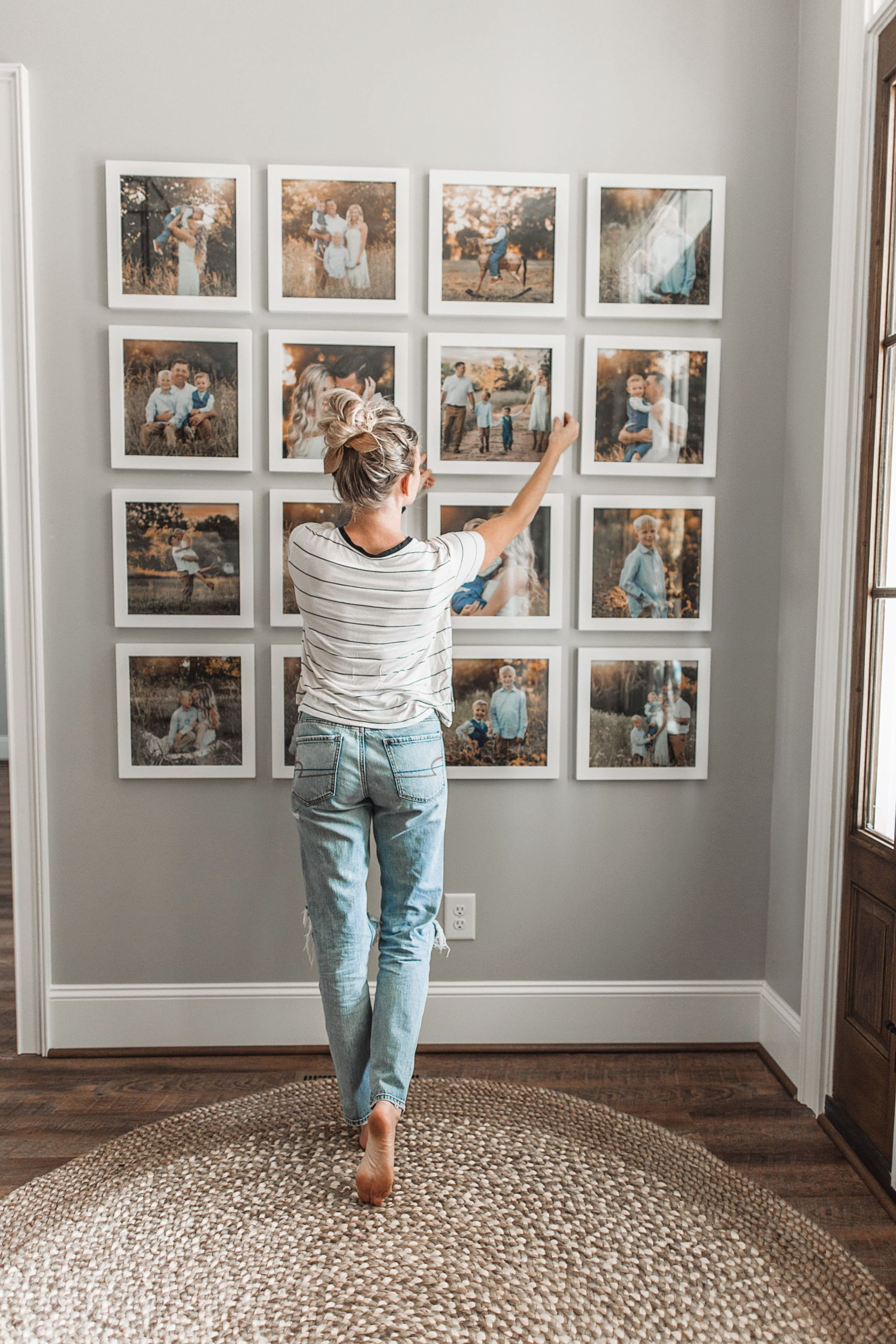 Photo of Entryway Gallery Wall