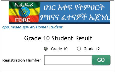 Checking www nae gov et grade 10 exam result 2018 | 0416229