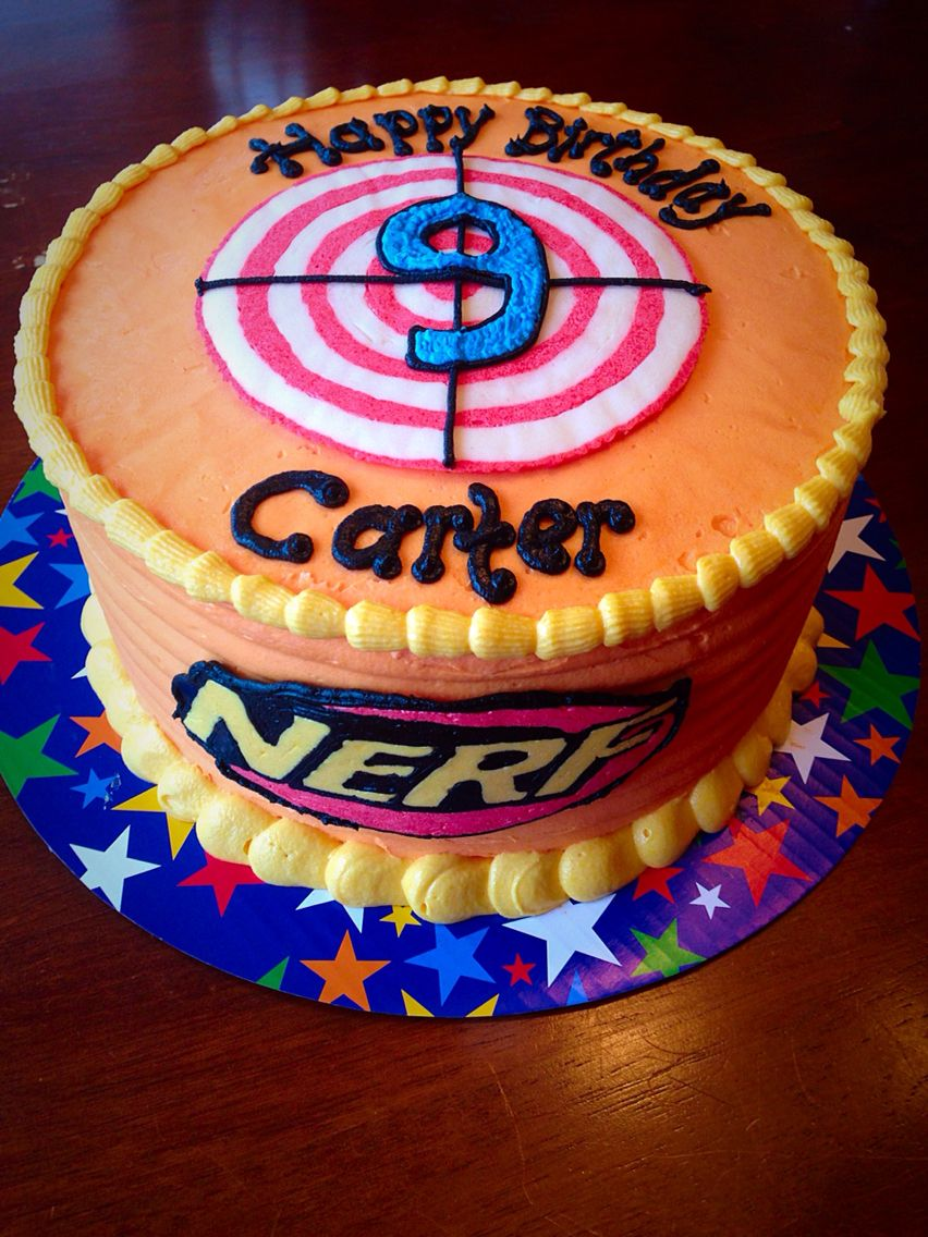 Nerf Boy 9 Yr Old Buttercream Cake