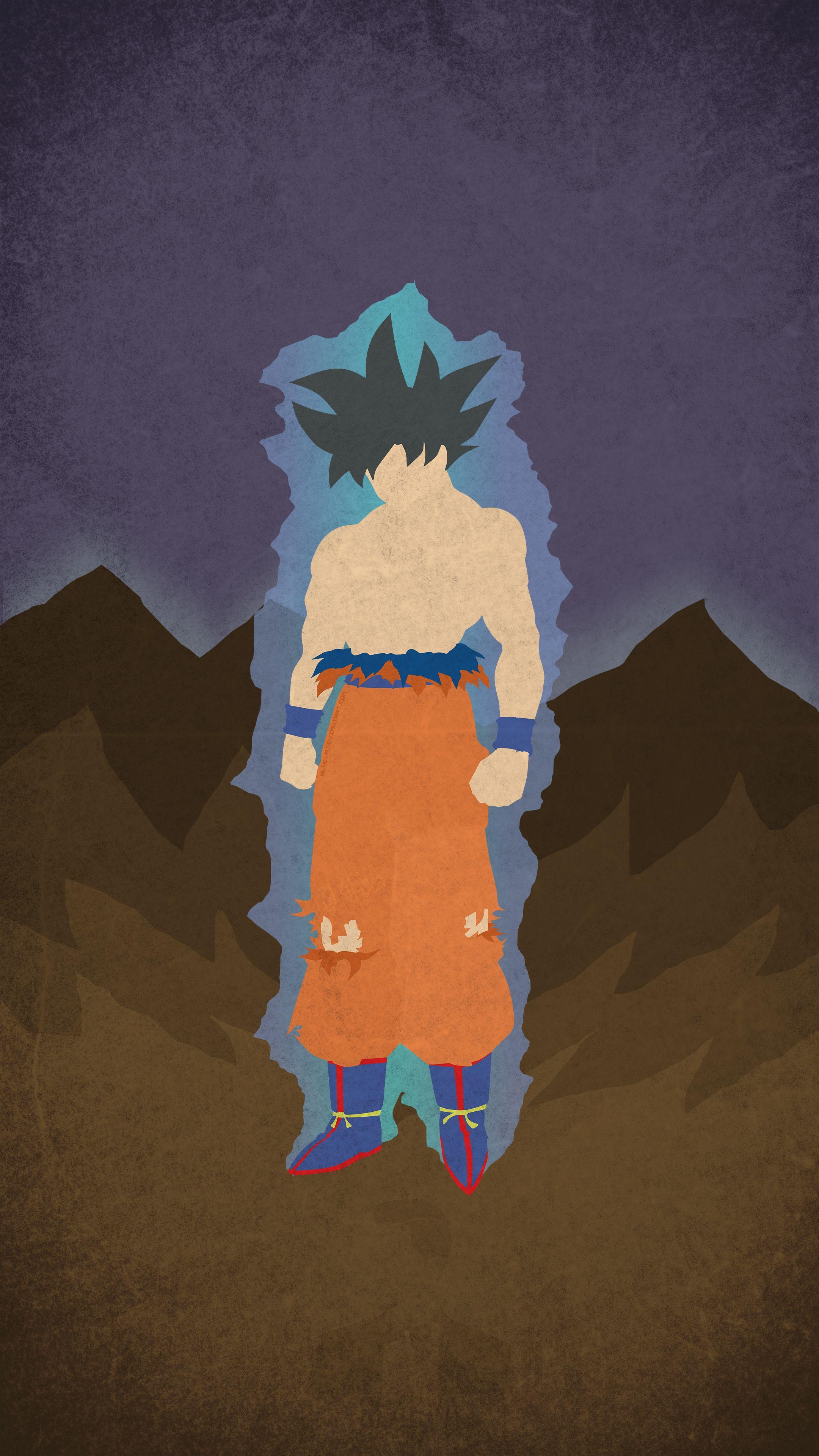 [OC] Ultra Instinct Goku Minimal Mobile Wallpaper dbz