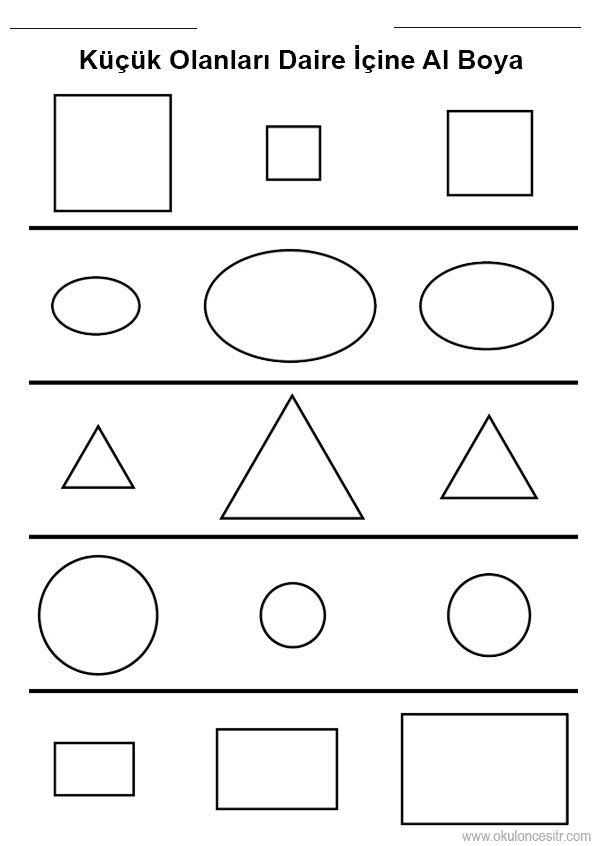 Geometrik Sekillerden Kare Dikdortgen Ucgen Ve Yuvarlaktan