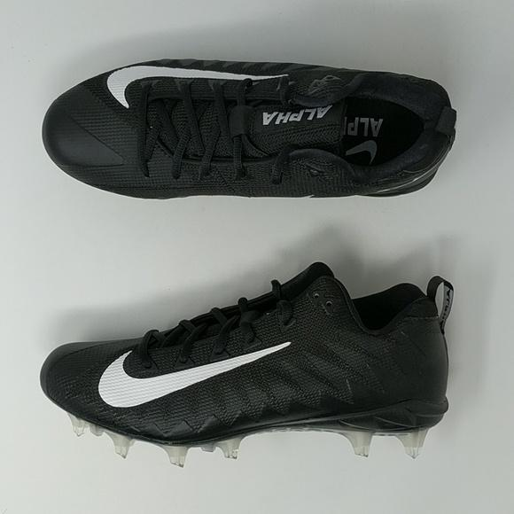 cheap for discount 94172 c9cd9 Nike Alpha Menace Pro Low TD WD PF Black Wide Football Cleats 921730-010