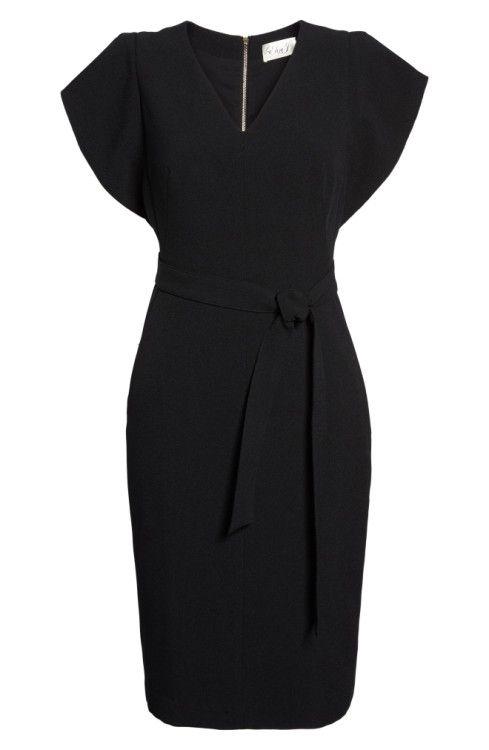 cb667f7c59b Main Image - Eliza J Ruffle Sleeve Sheath Dress