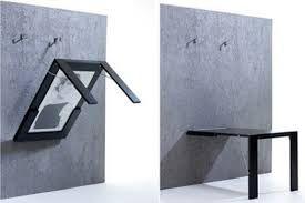 Resultado de imagem para mesas de parede para kitnet